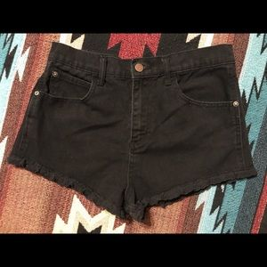 Forever 21 high waisted short shorts w lace trim